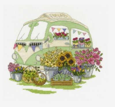 Les Fleurs Cross Stitch Kit by DMC