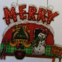 Holiday Truck Ornaments Cross Stitch Kitset