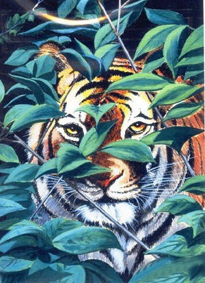 Hunter Siberian Tiger Cross Stitch Pattern