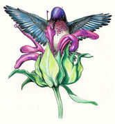 Hummingbird Feeding Cross Stitch Pattern
