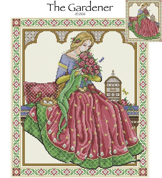 The Gardner Cross Stitch Pattern