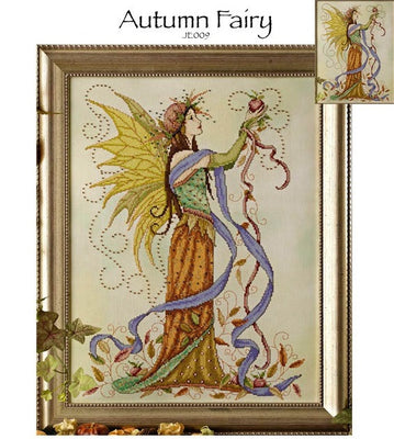 Autumn Fairy Cross Stitch Pattern