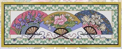 Fans of the Far East Cross Stitch Pattern