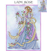 Lady Rose Cross Stitch Pattern