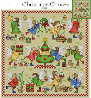 Christmas Chores Cross Stitch Pattern