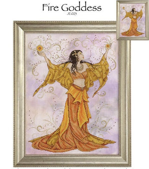 Fire Goddess Cross Stitch Pattern