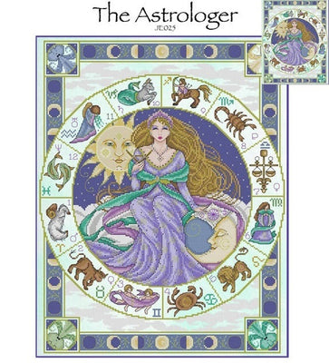 The Astrologer Cross Stitch Pattern
