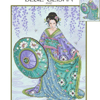 Blue Geisha Cross Stitch Pattern