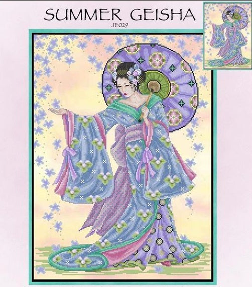 Summer Geisha Cross Stitch Pattern