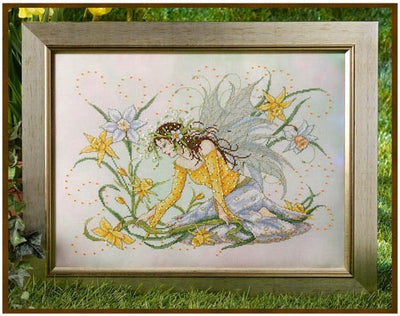 Daffodil Fairy Cross Stitch Pattern