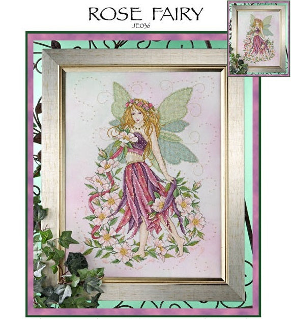 Rose Fairy Cross Stitch Pattern