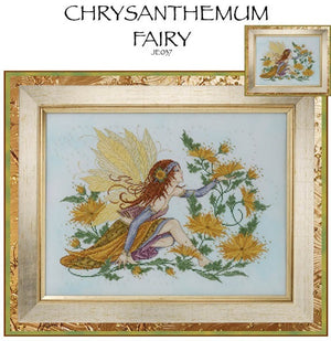 Chrysanthemum Fairy Cross Stitch Pattern