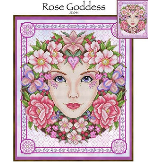 Rose Goddess Cross Stitch Pattern