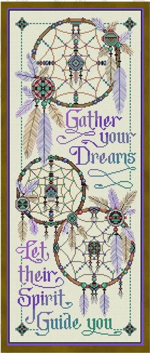 Gather Your Dreams Cross Stitch Pattern
