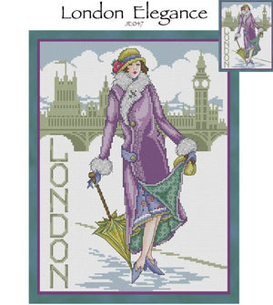 London Elegance Cross Stitch Pattern