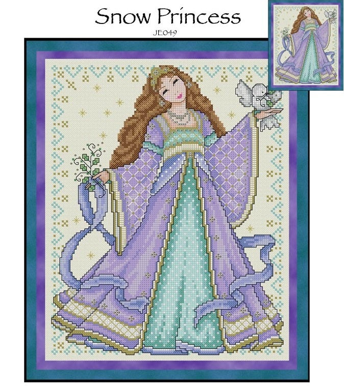 Snow Princess Cross Stitch Pattern