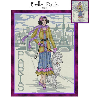 Belle Paris Cross Stitch Pattern