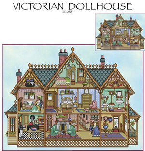 Victorian Dollhouse Cross Stitch Pattern