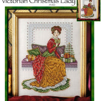 Victorian Christmas Lady Cross Stitch Pattern