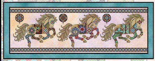 Painted Ponies Cross Stitch Pattern
