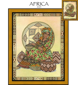 Africa Cross Stitch Pattern
