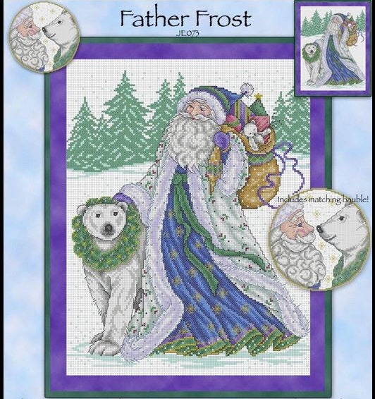 Father Frost Cross Stitch Pattern