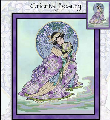 Oriental Beauty Cross Stitch Pattern
