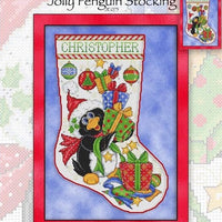 Jolly Penguin Stocking Cross Stitch Pattern