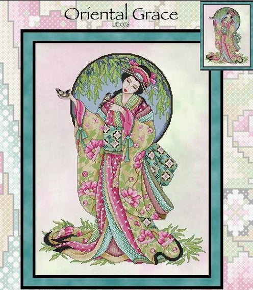 Oriental Grace Cross Stitch Pattern