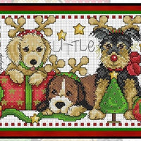 Santa's Little Helpers Cross Stitch Pattern