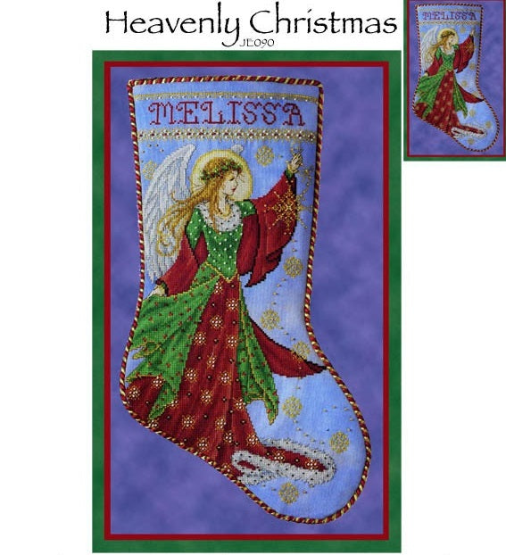 Heavenly Christmas Stocking Cross Stitch Pattern