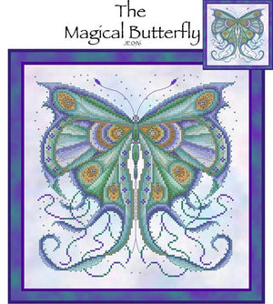 Magical Butterfly Cross Stitch Pattern