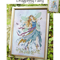 Dragonfly Fairy Cross Stitch Pattern