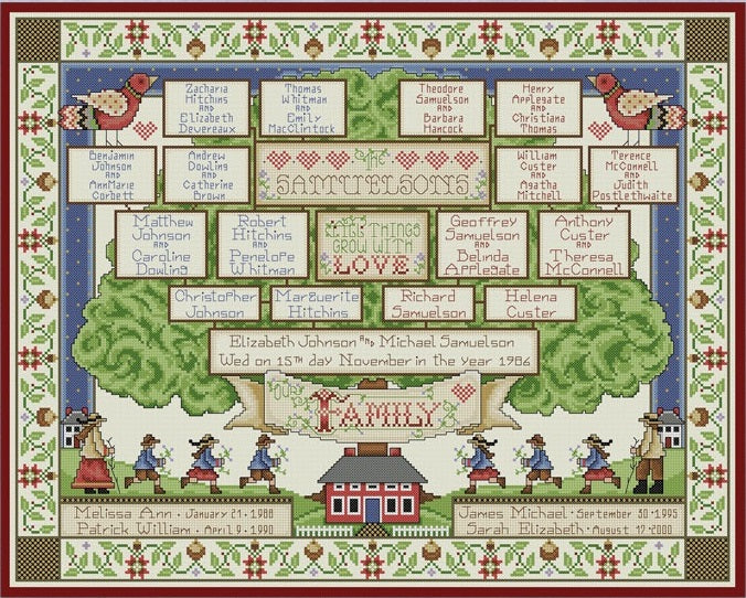 The Family Tree Cross Stitch Pattern