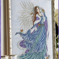 Christmas Blue Angel Cross Stitch Pattern