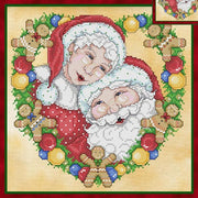 Mr & Mrs Claus Cross Stitch Pattern
