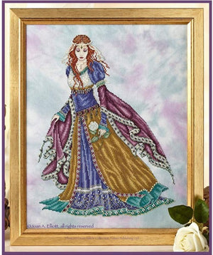 Medieval Maiden Cross Stitch Pattern