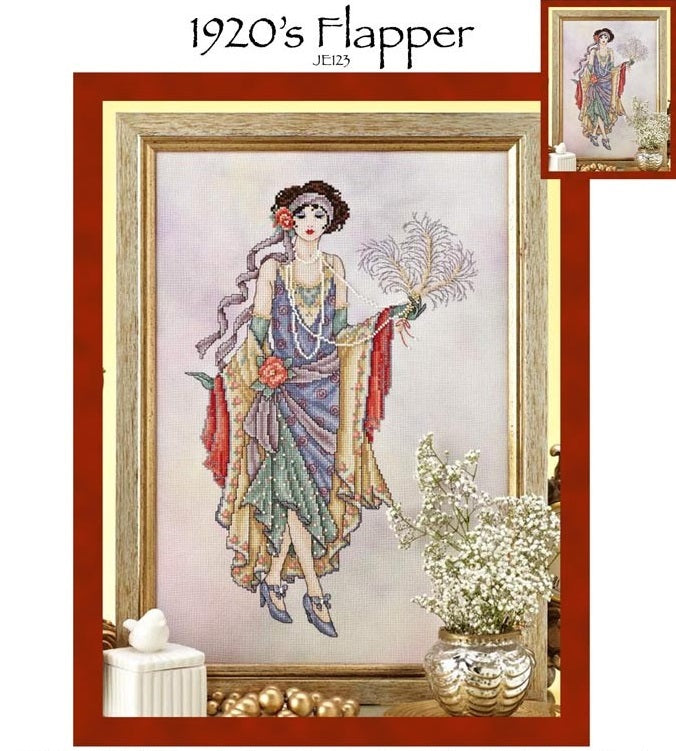 1920's Flapper Cross Stitch Pattern