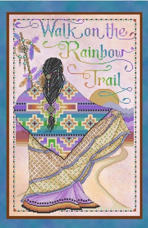 Rainbow Trail Cross Stitch Pattern