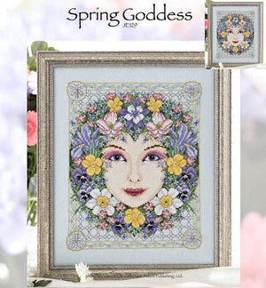 Spring Goddess Cross Stitch Pattern