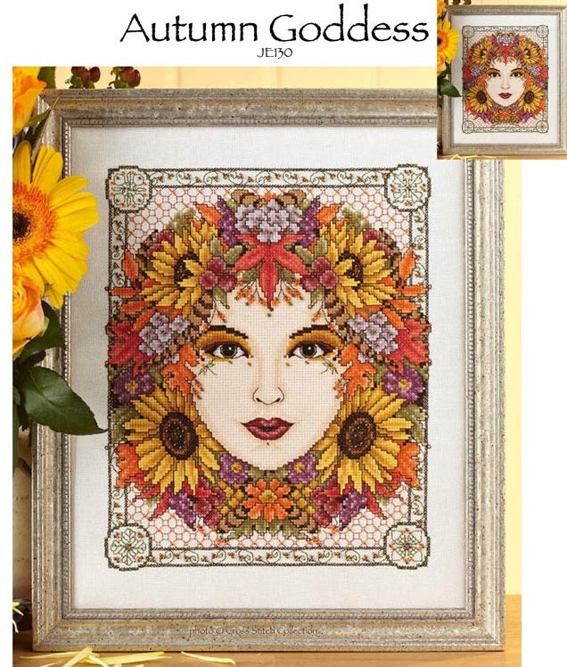 Autumn Goddess Cross Stitch Pattern