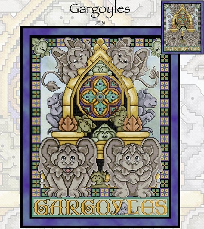 Gargoyles Cross Stitch Pattern