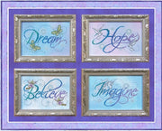Dream Hope Believe Imagine Cross Stitch Pattern