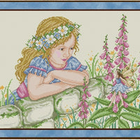 Behind the Garden Wall Cross Stitch Pattern