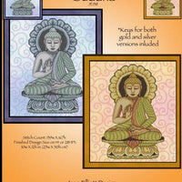 Golden and Silver Buddha Cross Stitch Pattern