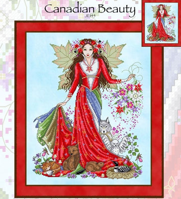 Canadian Beauty Cross Stitch Pattern