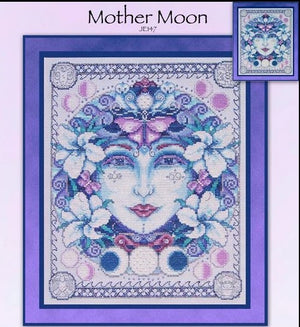 Mother Moon Cross Stitch Pattern