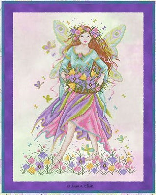Rainbow Fairy Cross Stitch Pattern
