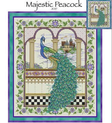 Majestic Peacock Cross Stitch Pattern
