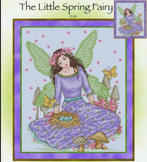 Little Spring Fairy Cross Stitch Pattern